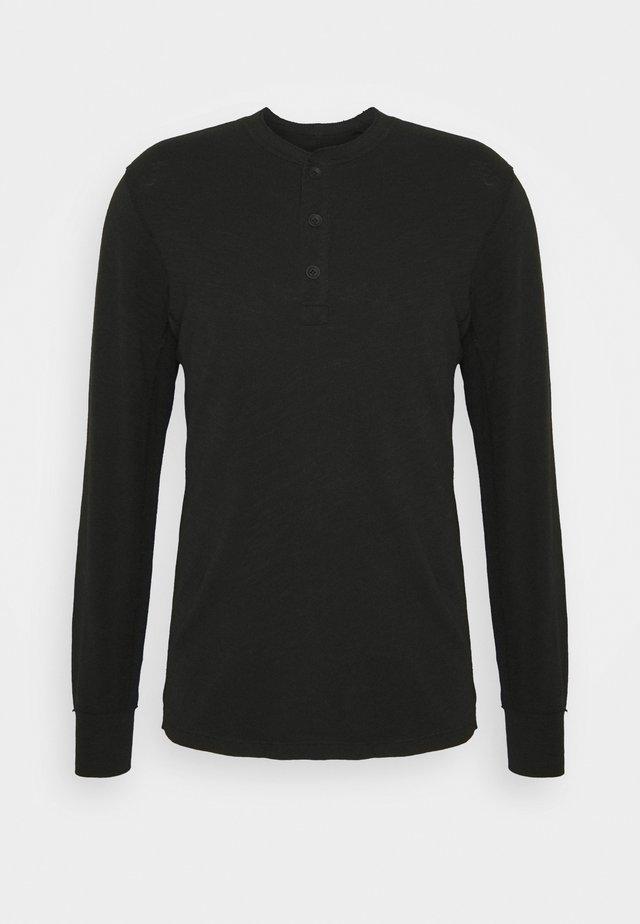 CLASSIC HENLEY - T-shirt à manches longues - black