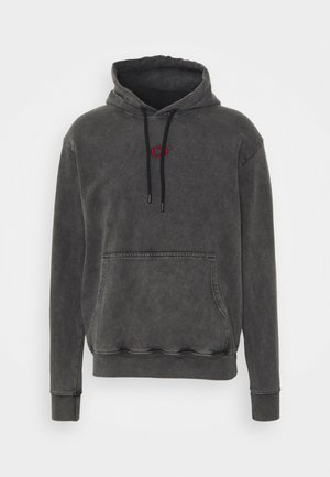 FIRE ICE HOOD - Hoodie - washed black