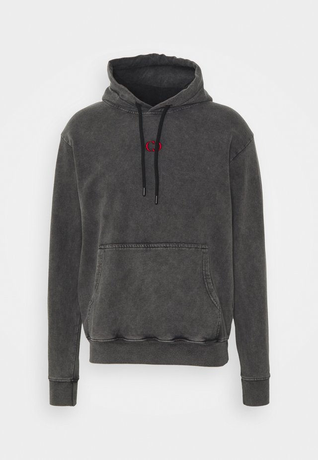 FIRE ICE HOOD - Hættetrøjer - washed black