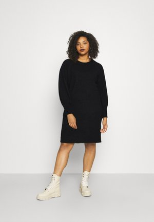 SLFLIA DRESS O NECK - Gebreide jurk - black
