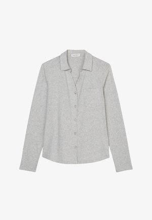 AUS ORGANIC-QUALITÄT - Button-down blouse - stony grey melange