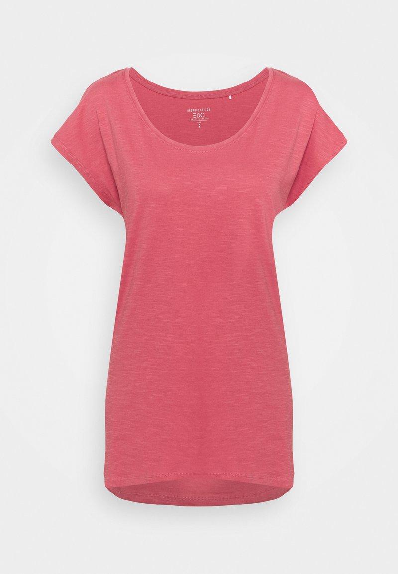 edc by Esprit - SLUB - Jednoduché triko - pink