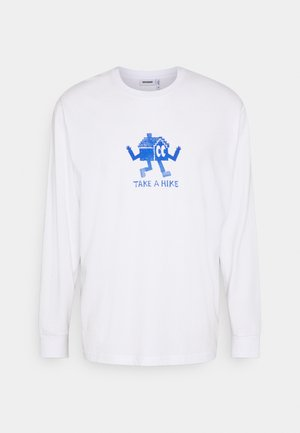 HACK PRINTED LONGSLEEVE UNISEX - Long sleeved top - white