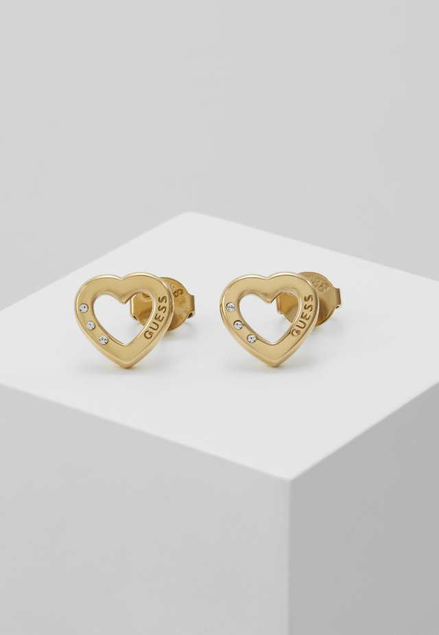 HEARTED CHAIN - Earrings - gold-coloured