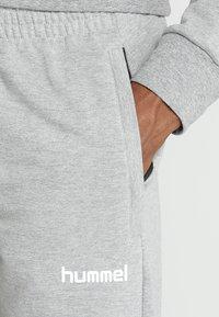 Hummel - HMLGO COTTON PANT - Spodnie treningowe - grey melange - 4
