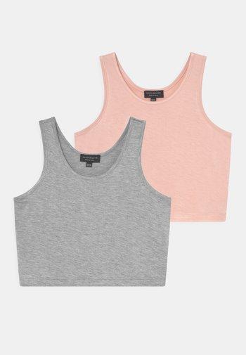 2 PACK - Top - mottled grey/pink