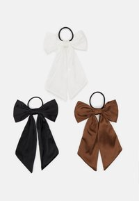 ONLY - ONLADELKA BOW 3 PACK - Accessori capelli - black/white/tortoise shell - 0