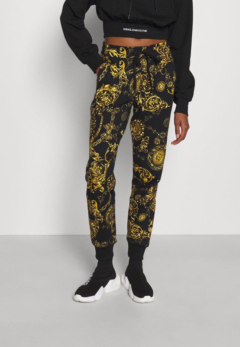 Versace Jeans Couture - PANTS - Tracksuit bottoms - black/gold