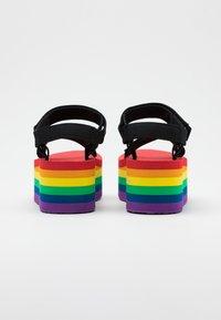 Teva - FLATFORM UNIVERSAL - Chodecké sandály - rainbow/black - 2