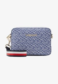 Tommy Hilfiger - ICONIC CAMERA BAG MONOGRAM - Across body bag - blue - 4