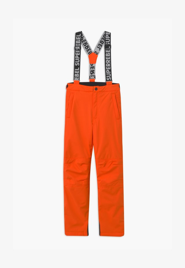 SUSTAINABLE UNISEX - Ski- & snowboardbukser - neon orange