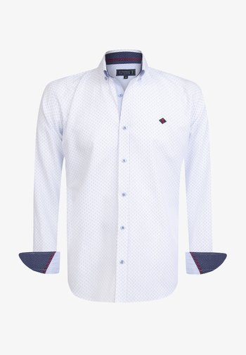 Shirt - white blue