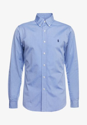 NATURAL SLIM FIT - Shirt - blue end on end