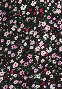 Dorothy Perkins - DOUBLE FRILL HEM MINI DRESS DITSY PRINT - Denní šaty - black - 6
