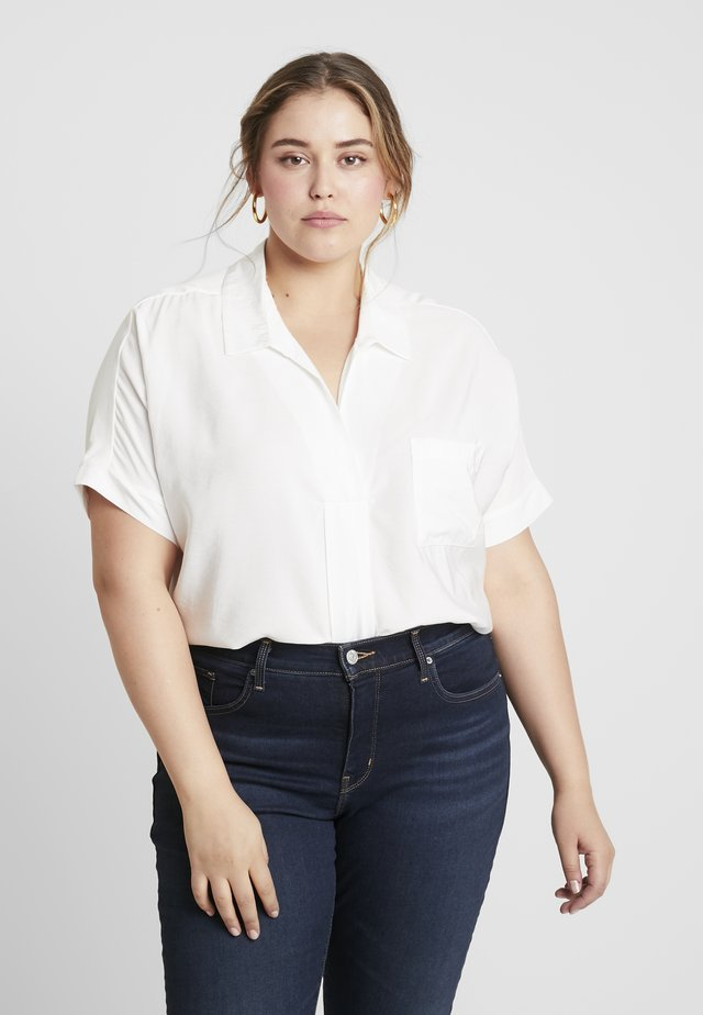HIGH LOW HEM BLOUSE - Blusa - ivory