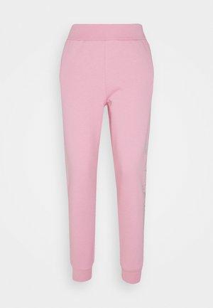 RHINESTONE LOGO PANTS - Verryttelyhousut - pink