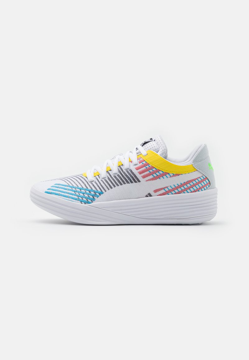 Puma - CLYDE ALL PRO - Basketball shoes - white/blue atoll