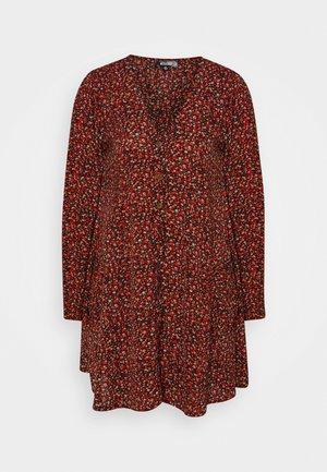 BUTTON THRU SMOCK DRESS FLORA - Day dress - red