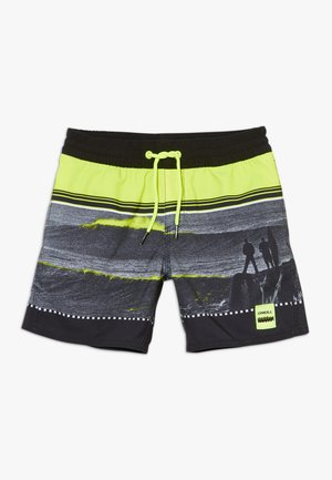THE POINT - Swimming shorts - black/yellow