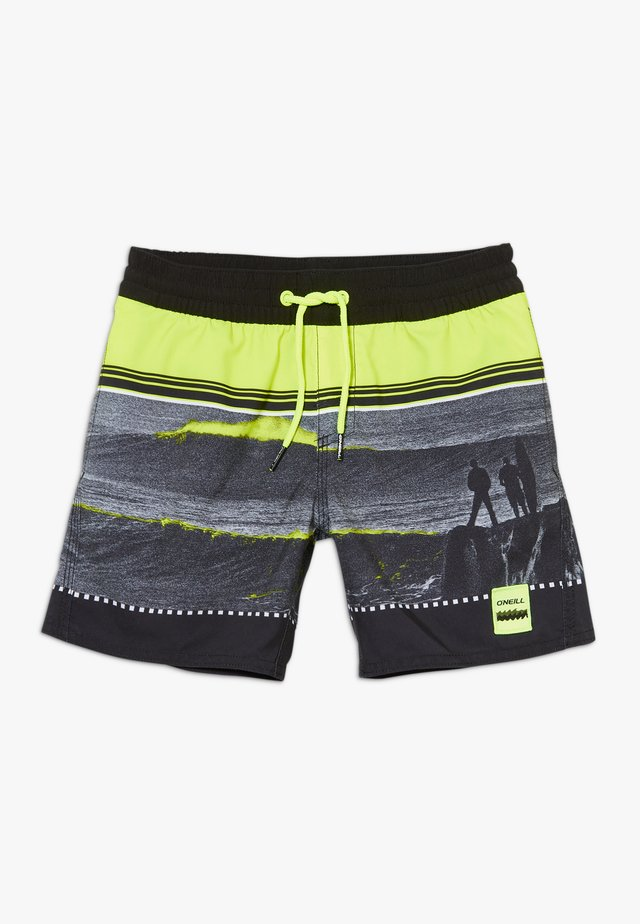 THE POINT - Shorts da mare - black/yellow