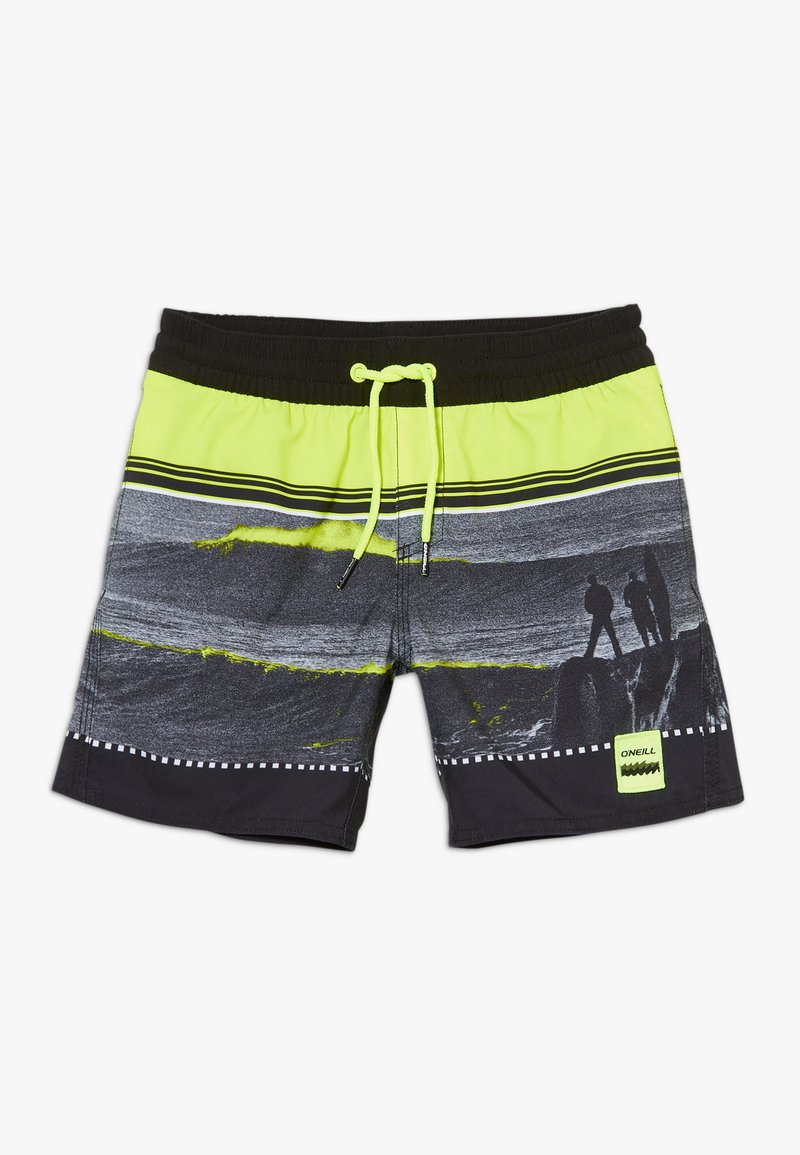 O'Neill - THE POINT - Swimming shorts - black/yellow