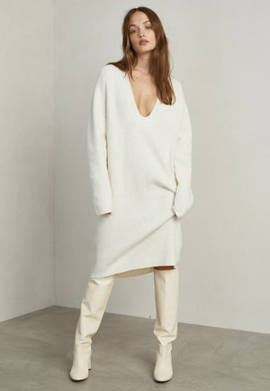 JULIETTE - Jumper dress - white melange