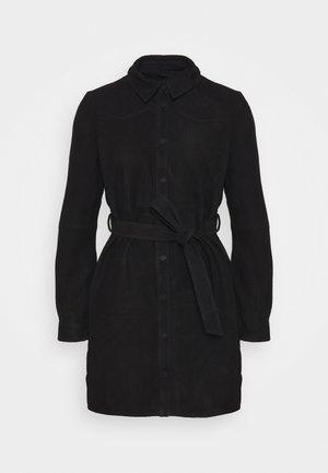 OBJSALLY - Shirt dress - black