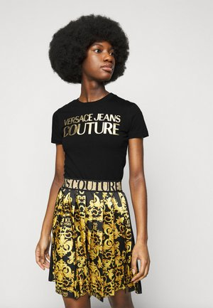 LADY - Print T-shirt - black/gold