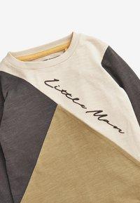 Next - COLOURBLOCK LONG SLEEVE T-SHIRT (3MTHS-7YRS) - Sweatshirt - khaki - 2