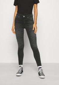 ONLY - ONLBLUSH CUT LIFE - Jeans Skinny Fit - dark grey denim - 0