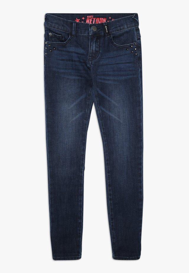 LUUS - Jeansy Skinny Fit - dark blue denim