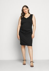 Kaffe Curve - SALLY DRESS - Shift dress - black deep - 1