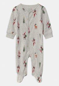 Carter's - SLEEP PLAY CHRISTMAS UNISEX - Sleep suit - mottled light grey - 0
