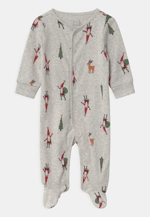 SLEEP PLAY CHRISTMAS UNISEX - Kruippakje - mottled light grey