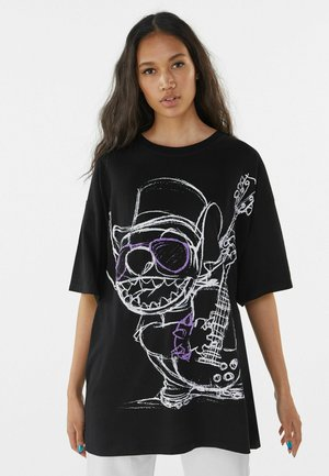 STITCH - T-shirt med print - black