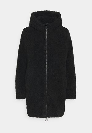 ONLNEW TERRY CURLY COAT  - Kort kåpe / frakk - black