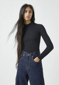 PULL&BEAR - Jumper - mottled black - 0