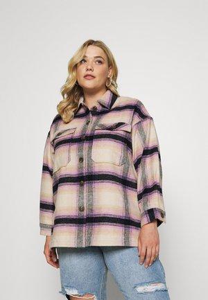 PCCARLENE SHACKET - Short coat - sheer/lilac