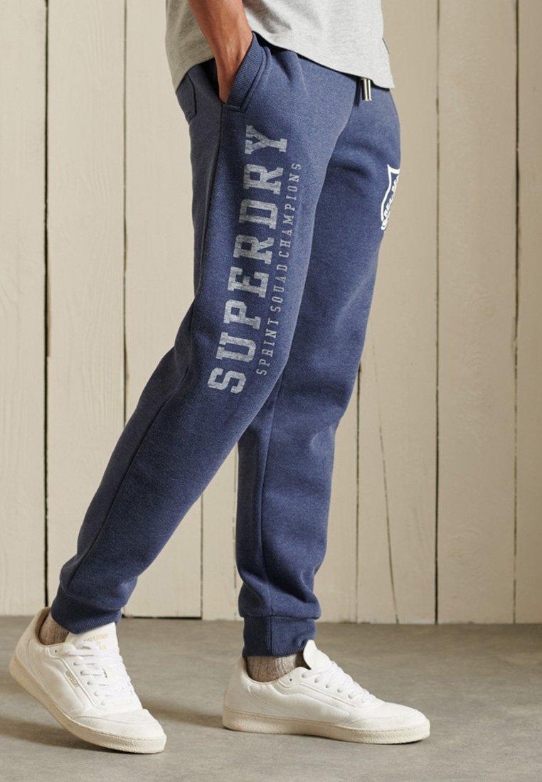 Superdry - Tracksuit bottoms - princedom blue marl