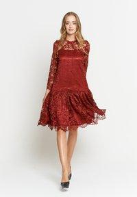 Madam-T - OTTILIANA - Cocktail dress / Party dress - weinrot - 0
