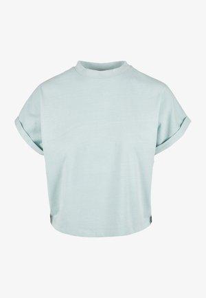 Jednoduché triko - seablue