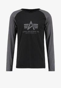 Alpha Industries - Pitkähihainen paita - black/grey black - 5