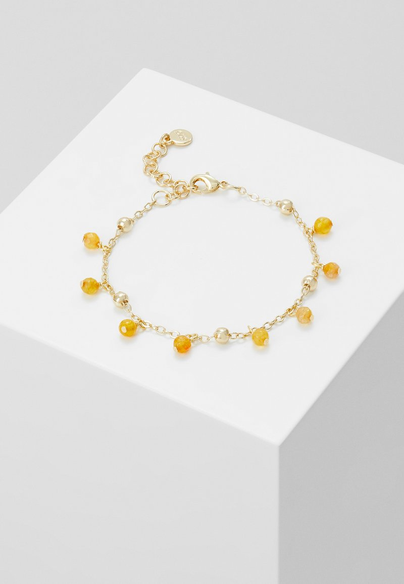 SNÖ of Sweden - ROC CHARM BRACE - Bransoletka - gold-coloured/amber