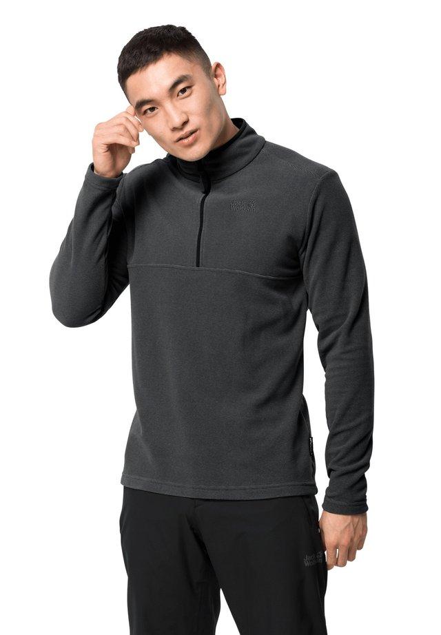 Fleece jumper - black stripes