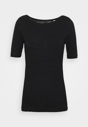 SHORT SLEEVE BOAT NECK - Camiseta básica - black