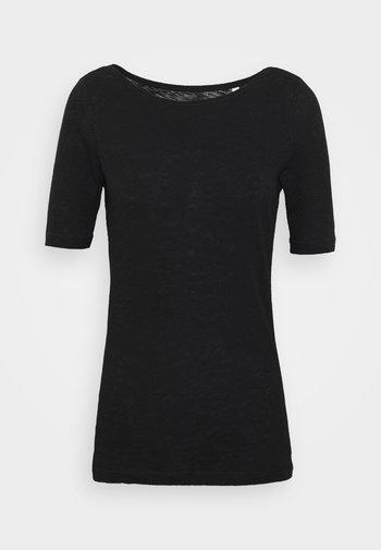 SHORT SLEEVE BOAT NECK - Basic T-shirt - black