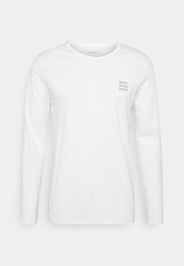 LONG SLEEVE SMALL LOGO - Long sleeved top - scandinavian white
