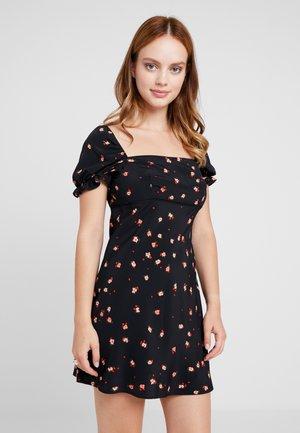 MINI SQUARE NECK DRESS - Denní šaty - multi-coloured