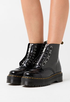 SINCLAIR - Platform ankle boots - black