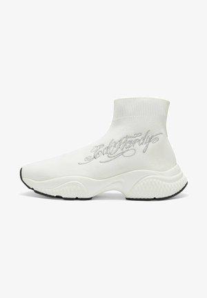 SCRIPT ED - High-top trainers - white silver
